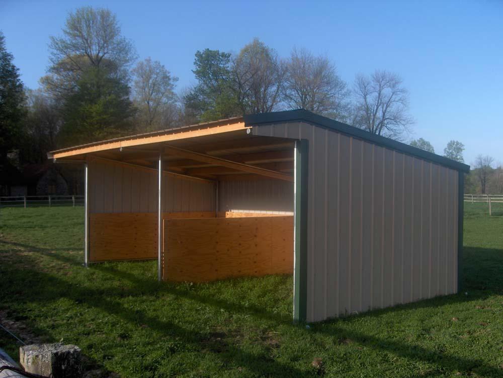 Diy Shelter Kits : Wrangler run in horse shelter kits klene pipe structures