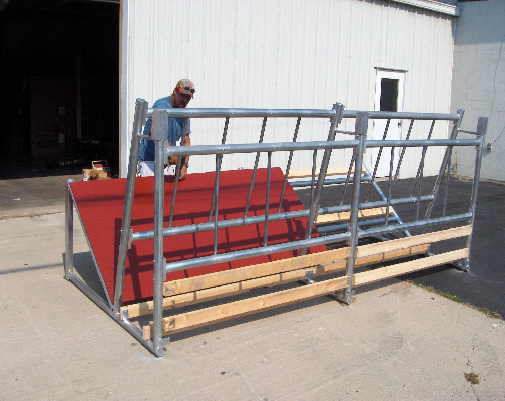 Bk 6 Fence Line Cattle Hay Feeder Klene Pipe Structures