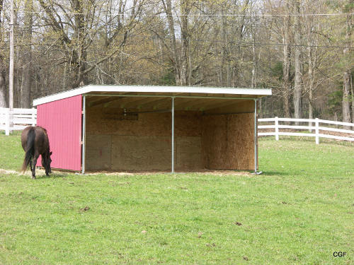 Maverick Run In Horse Shelter Kit Klene Pipe Structures
