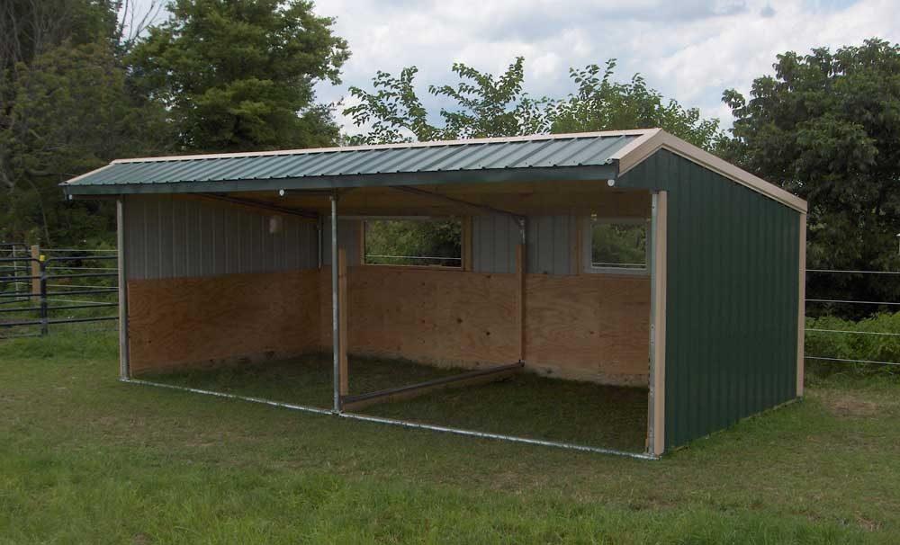 Wrangler Run In Horse Shelter Kits Klene Pipe Structures