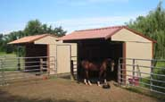 Wrangler Run In Horse Shelter - 9 x 9 Open Shelter Frame