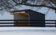 Wrangler Run In Horse Shelter - 12 x 12 Open Shelter Frame