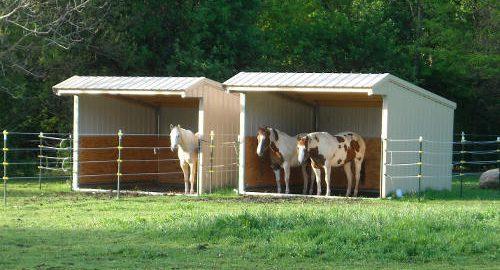 Wrangler Run In Horse Shelters